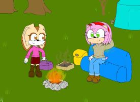 Amy and Cream's Camping Trip (Digital version) by Basher-the-Basilisk