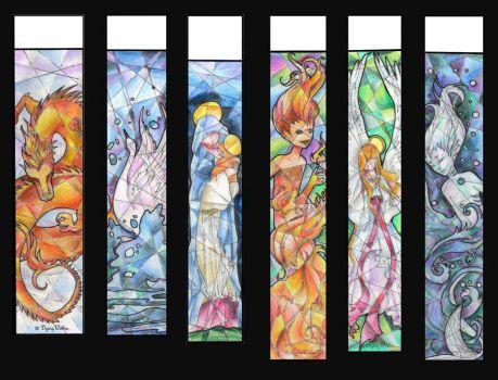 Bookmarks set1 by CeciliaSal