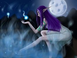 WoW Night Elf by KuroiAkiNeko