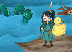 Leviathan Hunting - gift :3 by aire73