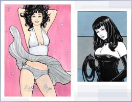 Bettie Page AP Cards by rplatt