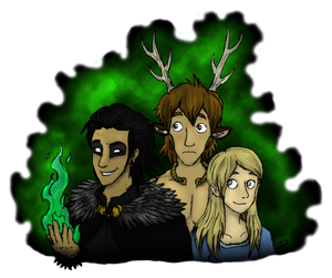 Of the magician, beauty and stag by TheJuras