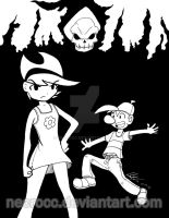 Poster: Billy y Mandy tinta by NecroCC