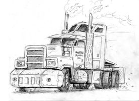 Ramrider's Alt Mode sketch by Charger426