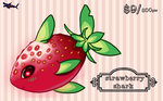 Strawberry Shark Pt/Paypal Adopt (closed) by canned-sardines