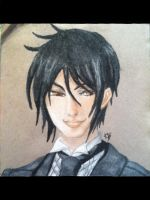 His Butler, a Charcoal Masterpiece by B0wtie0us