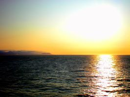 Sunset at Sea . . . by Momofbjl