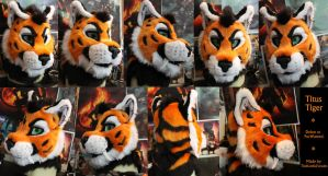 TitusTiger head finished by TheKareliaFursuits