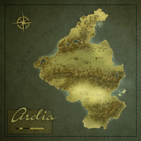 Ardia - Regional Fantasy Map by ahobbiteer