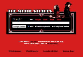 The White Stripes Startpage by AwesomeStart
