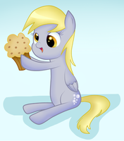 Derpy loves muffin by Niuray-Hitware21
