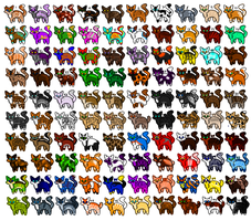 100 Cat Adopts: (OPEN) by Banshee-And-Alex