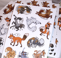 Dancing Foxes Sticker Sheets by KiRAWRa
