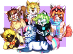 Group of buddies [ Commission ] by iFoopets
