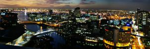 Melbourne Panorama by SuperSprayer