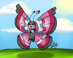 Happy Vivillon by Draareg