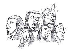 Hakem Face Expressions by TheQueenOfManga