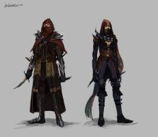 Character Sketches Rogues by tripplejaz