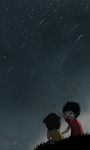 TWAS: Meteor shower by Kiktion