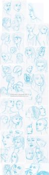 Sketch Dump - Faces by TinyQ