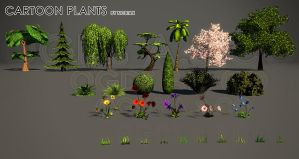 OGDS Cartoon plants by Nobiax