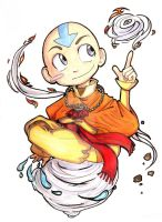 Avatar Aang by incaseyouart