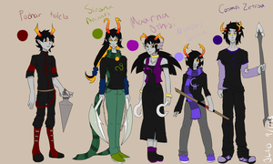 All 5 of my Homestuck oc's thus far