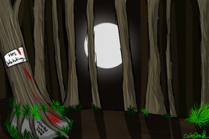 Slenderman forest by CodeDeath