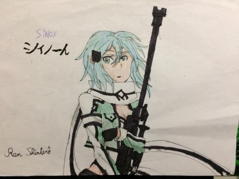 Sinon (Sword art online)  by Ren-Shintaro