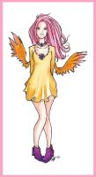 Human Fluttershy by AudInk