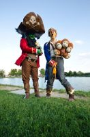 Le Chuck and Guybrush by MaoUndo