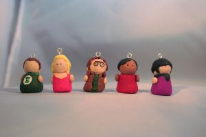 Big Bang Theory Cast Clay Charms by KouranKiyo