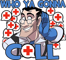 WHO YA GONNA CALL?(teeshirt on WLF) by psychohog