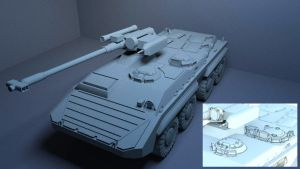 BTR-20U IFV Model WIP02 by MikeDoscher