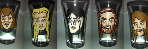 Drunkklok Shot Glasses by SpiceChickNick
