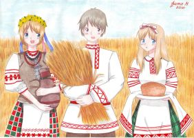 Hlebnyj kraj: traditional outfit by Vestal-Spirit