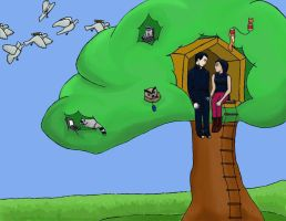 LDR Treehouse :D by whatonearth