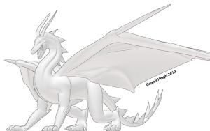 Dragon Black White 3 by DennisH2010