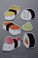sushi magnets by resubee