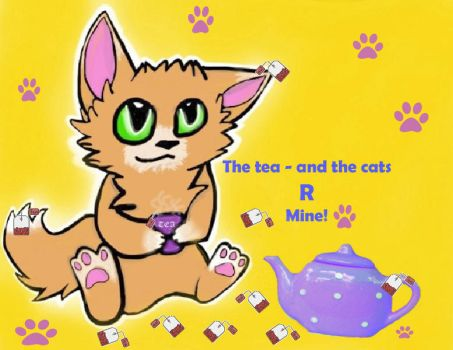 The tea and the cats R Mine! by LindArtz