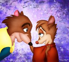 Justin and Mrs Brisby by lu-raziel