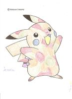 Pikachu coloured by Nohrxinna
