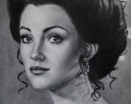 Jane Seymour drawing portrait by noeling