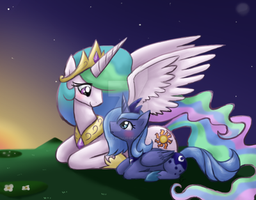 Celestia and Luna by FENNEKlNS