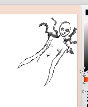 Creepy ghoul drawn on iscribble by bo-mccravy