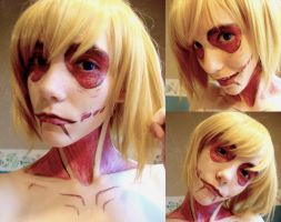Annie Leonheart Makeup test by NekoLolipop