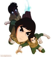 Rock Lee of Konoha by Backfirejr