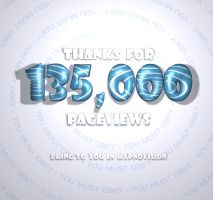 Thanks for 135,000 pageviews by sandybelldf