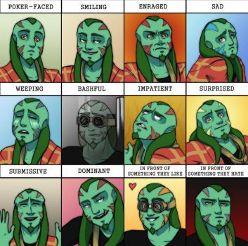 Samone's expression meme by darklightartist