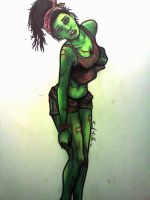 zombie pinup by vincevinella